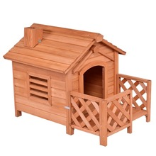 High quality cheap price Wooden outdoor dog house kennel with porch