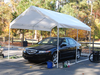 outdoor steel coated canopy carport pavilion gazebo tent 10x13ft