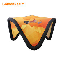 New design shaped inflatable tent custom printing advertising inflatable goods