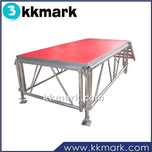 Heavy loading durable glass,acrylic,plywood, carpet platform portable stage for wedding