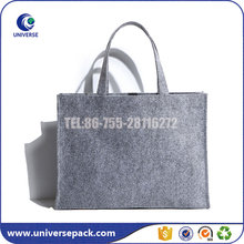 Plain recyclable shopping felt bag wholesale