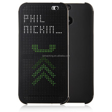 Hot Sale For HTC One 2 M8 Dot View Net Flip Full Back Front Cover Phone Case
