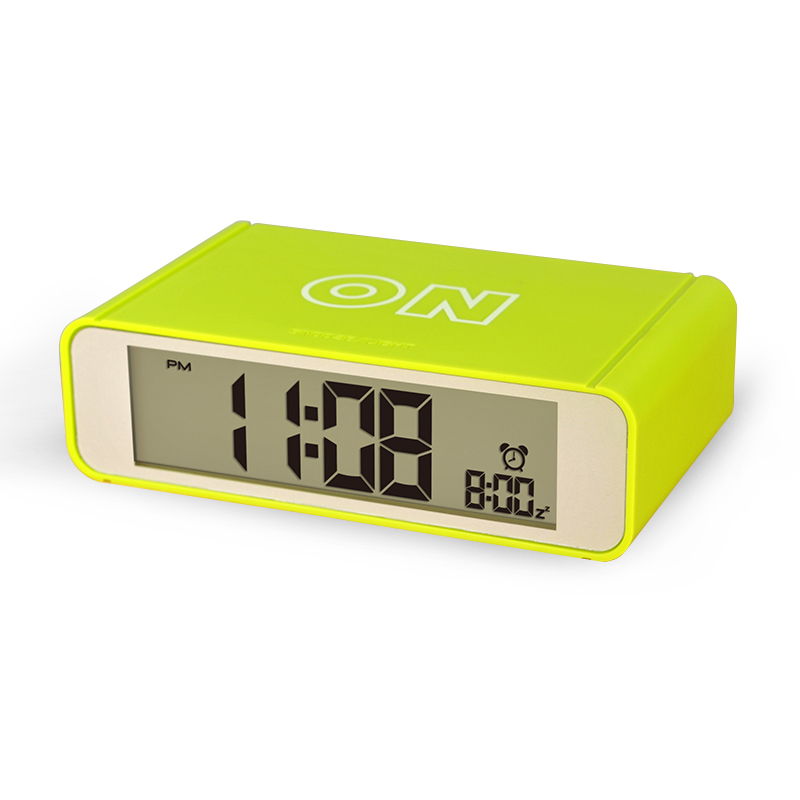 Plastic flip table alarm clock with calendar desk table clock for gifts