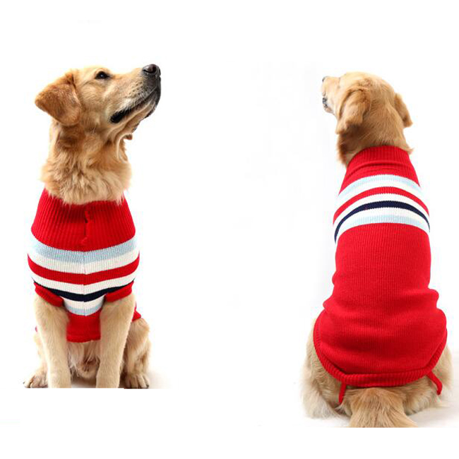 Large Dog Clothes Pet Winter Soft British Style Sweaters For Golden Retriever
