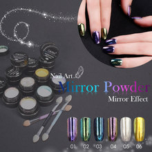 #61603C CANNI Nail Accesories Mirror Pigment Powder Mirror Effect Magic Powder Glitter Pigment Powder