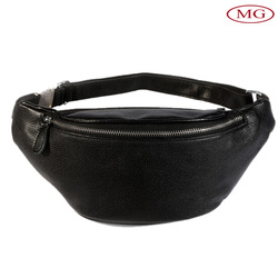 Wholesale men/women outdoor sports genuine leather fanny pack
