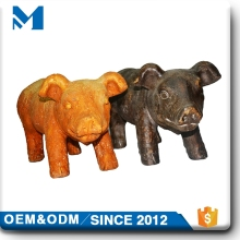 clay outdoor large garden decoration wild animal pig statue for sale