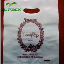 ldpe epi biodegradable plastic die cut carrier shopping bag stand up pouch bag for supermarket