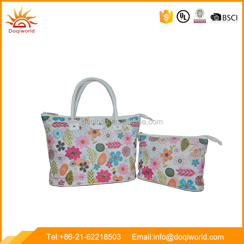 Top Sale Women Bag Set with Cosmetic Bag for Travel