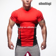 Fitness dry fit two tone man clothing t-shirt pima cotton t shirt wholesale for mens gym sport