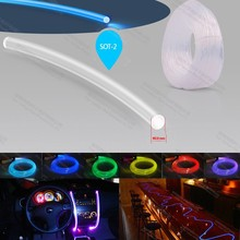 2mm plastic side glow emitting optical fiber optic fibre lighting for ccar interior light decoration