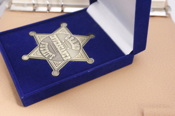 Top sale Star Shape SHERIFF Badge with Velvet box