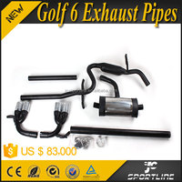 JC Design 304 Steel Golf 6 Exhaust Pipes for VW GOLF 6