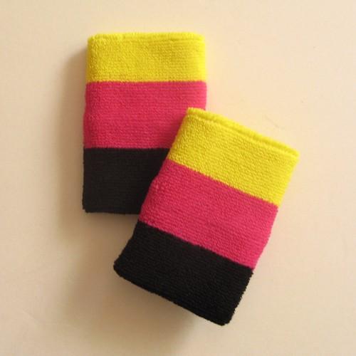 bright_yellow_bright_pink_black_wrist_sweatband.jpg