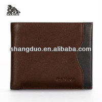 Promotional coffee Genuine Leather Wallet Case for men