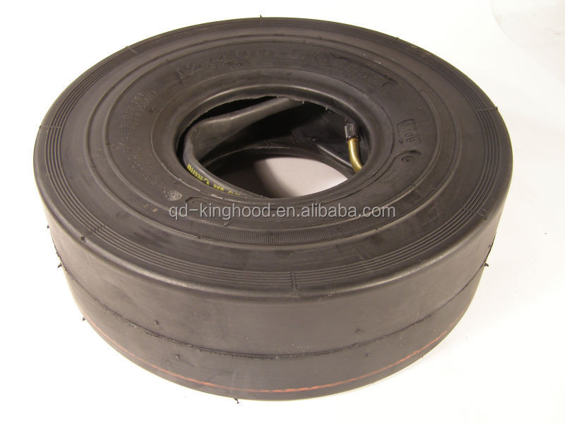 12x4.00-5 heavy duty slick tire for go karts 4ply 12x400-5