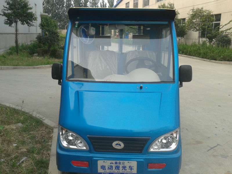 newest hybrid four wheel heavy electric cargo with front cabin