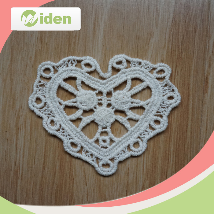 Widentextile Latest lace Heart Design Custom Wholesale Emboridery Patch