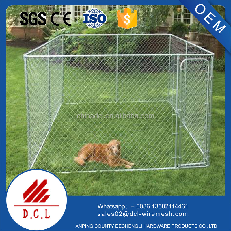galvanized large dog cages for sale/outdoor dog run/dog house factory