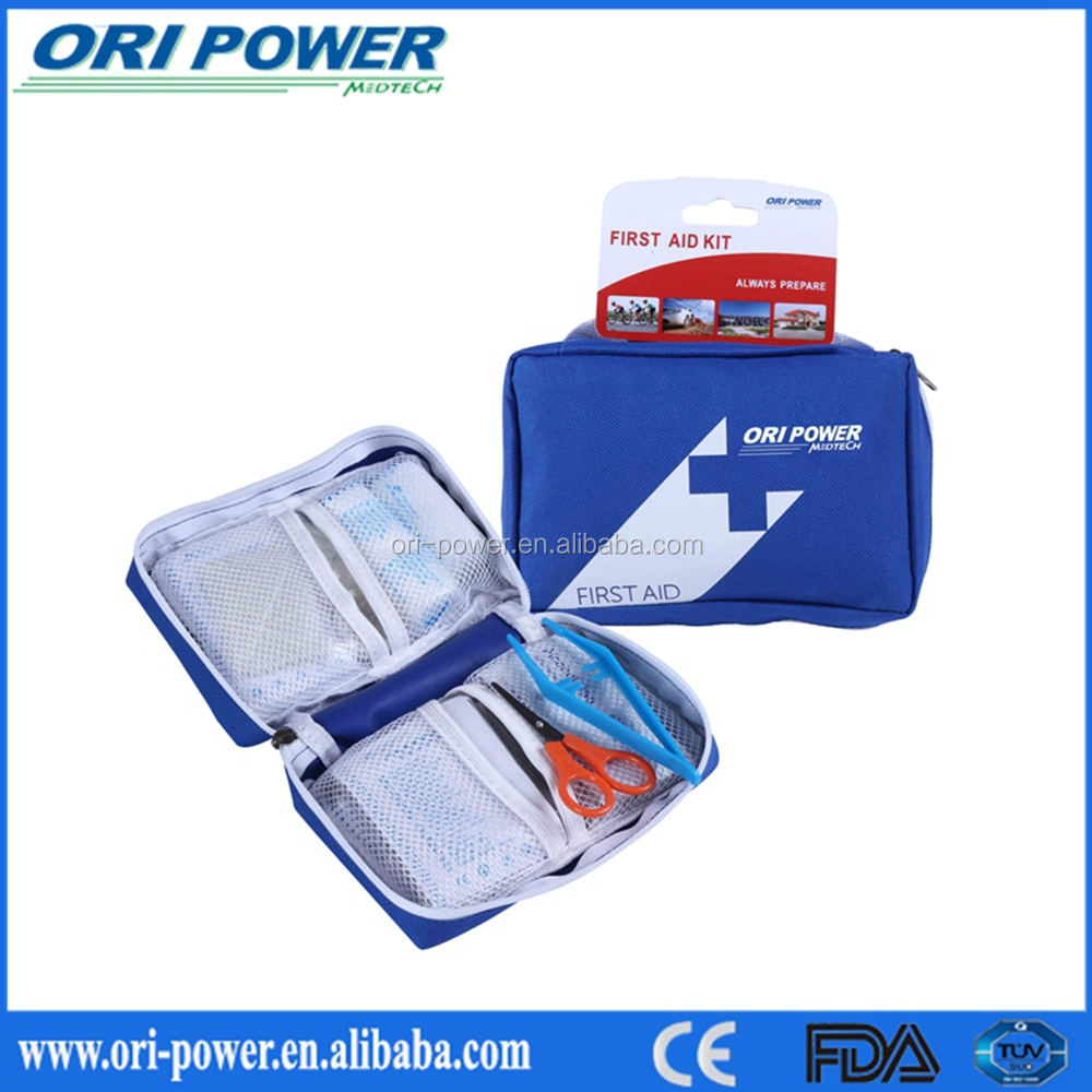 OP wholesale CE ISO FDA approved bicycle emergency kit waterproof portable first aid bag