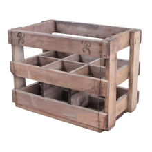 Durable vintage wine crate