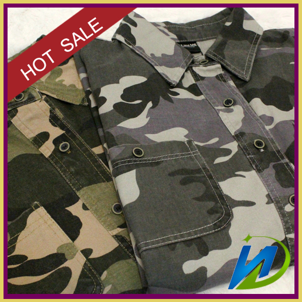 Top quality T / C Fabric for work wear / Hunting clothing /camouflage with digital printed
