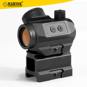 Marcool 1x21 Military Shooting Red Dot Sight Scope Hunting with Tall Riser in black