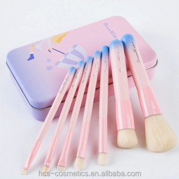 Tin box makeup brush set private label beauty makeup kit