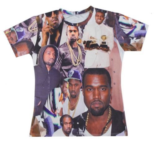 2015 Summer style mens t shirts fashion 2015 men/women Kanye West Print 3d t shirt Unisex plus size S-XXL Free shipping