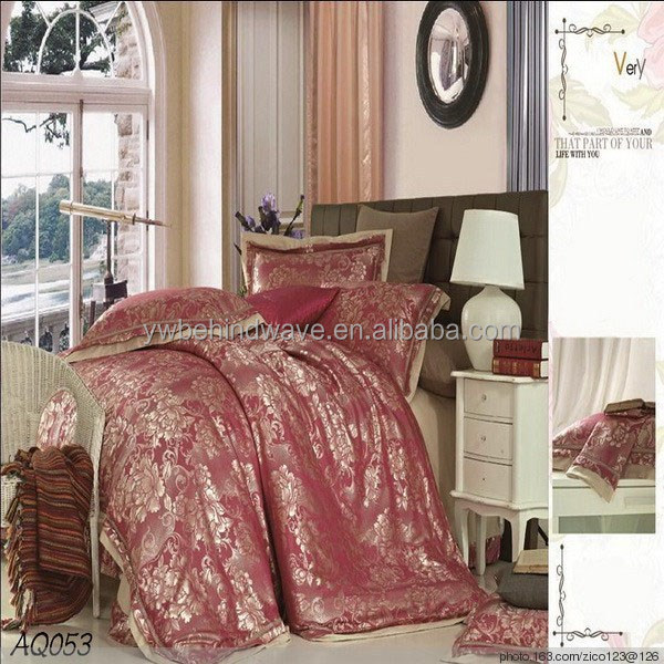 100% pure silk or cotton king size bed sheet export to woldwide wholeseller