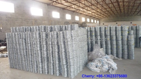 Hot dip galvanized barbed wire 250m/500m for South America