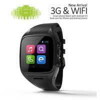 Touch screen gsm android smart watch, 3G android smartwatch, phone calling support android watch