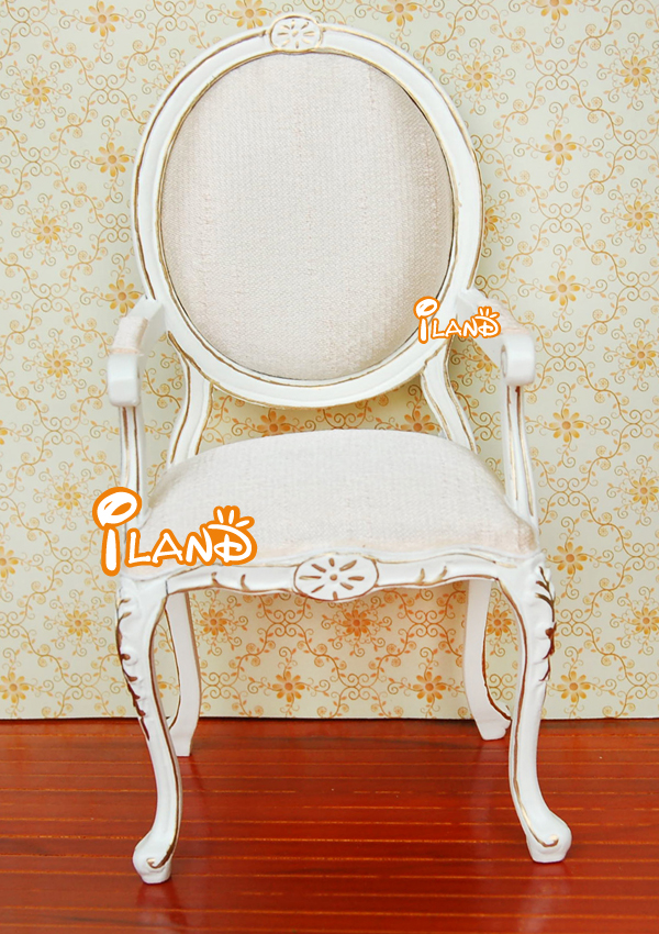 1:6 Scale Doll Furniture miniature Chair Fashion Doll Armchair white SL012