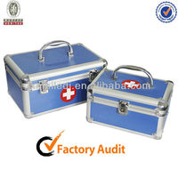 MLD-FAC55 Bright Light Blue Portable Hospital Household Emergency Box mini First Aid kit