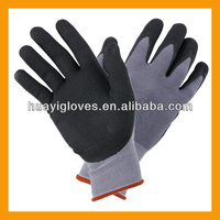 15 Gauge Nylon Micro Foam Nitrile Work Gloves