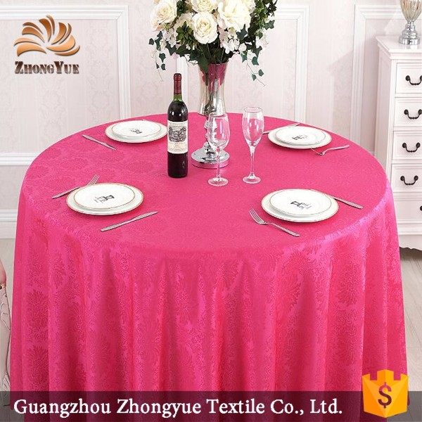 Zhongyue wholesale light yellow luxury style banquet table cloths
