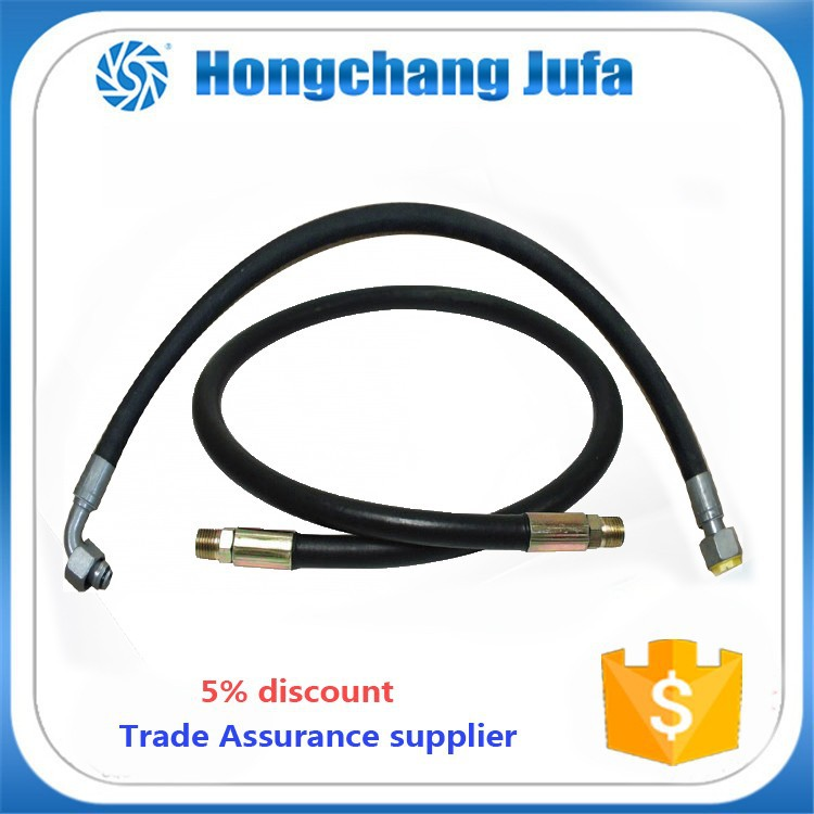 High pressure black color wire braided steam rubber hose
