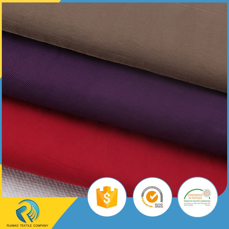 Eco-friendly waterproof PU coated wrinkle washed 100 polyester twill fabric for pants