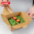 paper kraft food container,food grade Disposable PE meal box