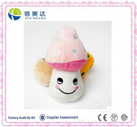 Custom stuffed cute mushroom plush pet toy for promotion