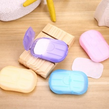 Portable Soap Tablets Travel Disposable Bath Soap Paper Hand Washing With Holder