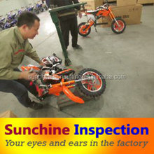 China professional quality inspection agent for Dirty bike/moto bike quality control for oversea buyers