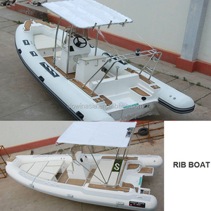 China Fiberglass Hull Inflatable Hypalon Boat or PVC Rigid Boat RIB