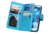 PU leather wallet purse case for samsung galaxy s4 zoom