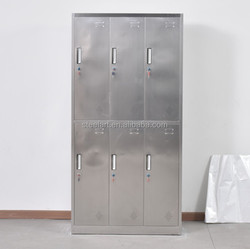 6 door 304 stainless steel bathroom cabinet metal locker
