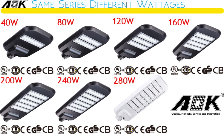 240 Watt Solar LED Street Lights Retrofit Kits Motion Sensor Photocell LED Area Lightings