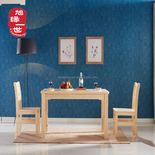 China solid wooden industrial dining table set with cheap price in india