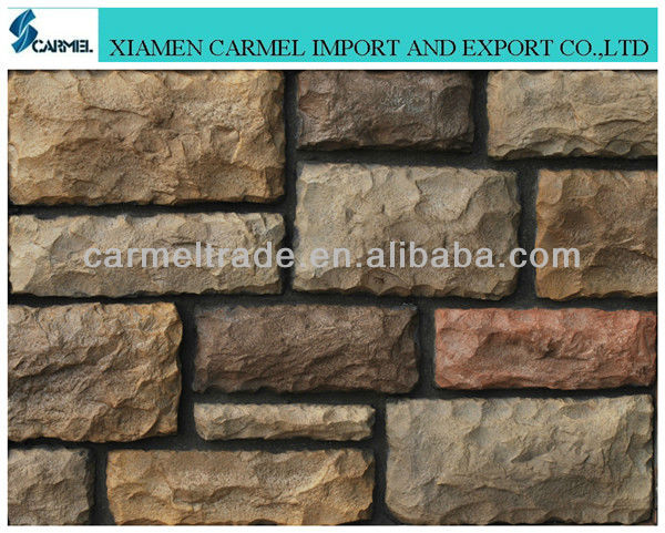 cheap artificial culture stone wall covering for bluding