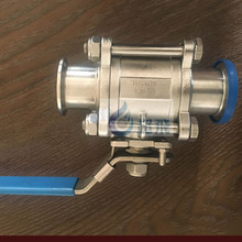 Dairy equipment set Stainless steel Sanitary 3 pcs cleaning clamped ball valve price