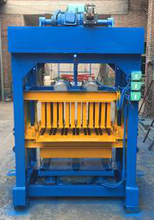 4-40A small concrete brick making machine Automatic soil/cement/fly ash brick machine